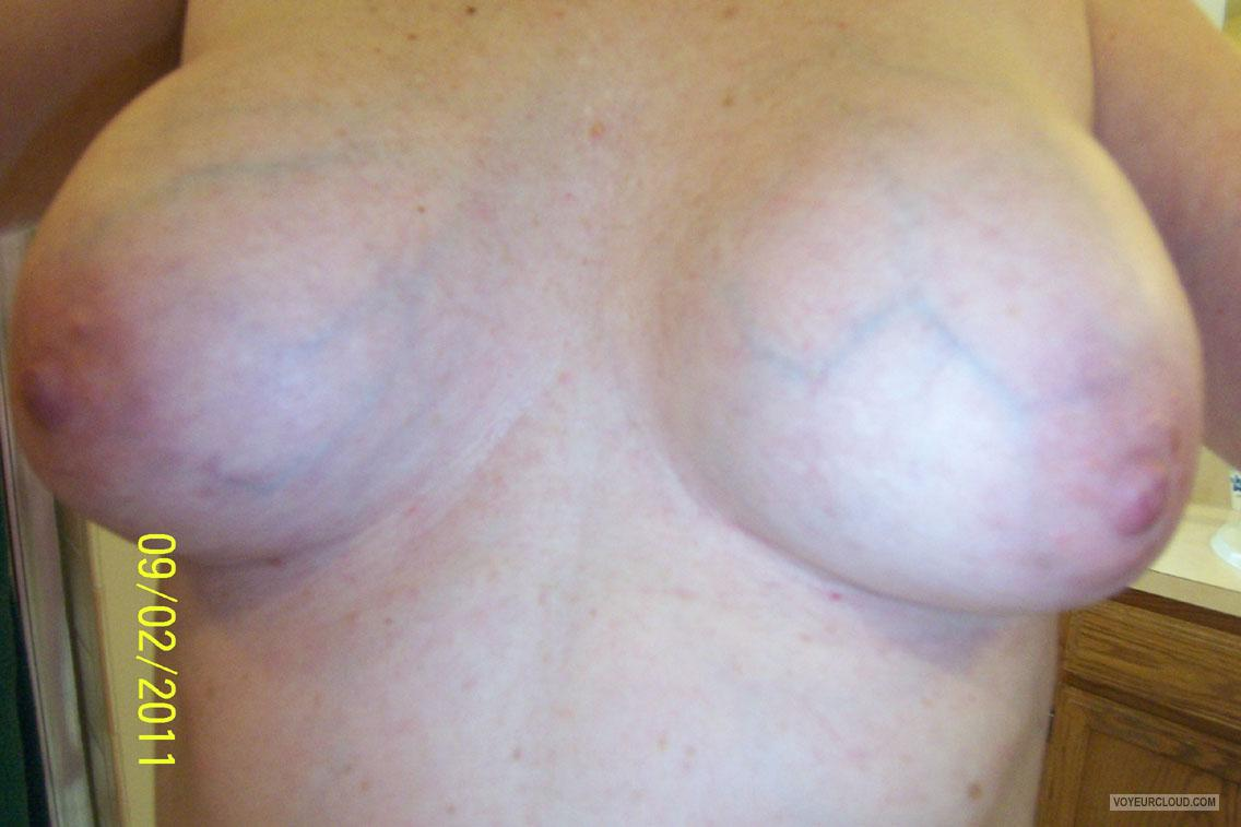 Tit Flash: Wife's Medium Tits - Testing Waters from United States