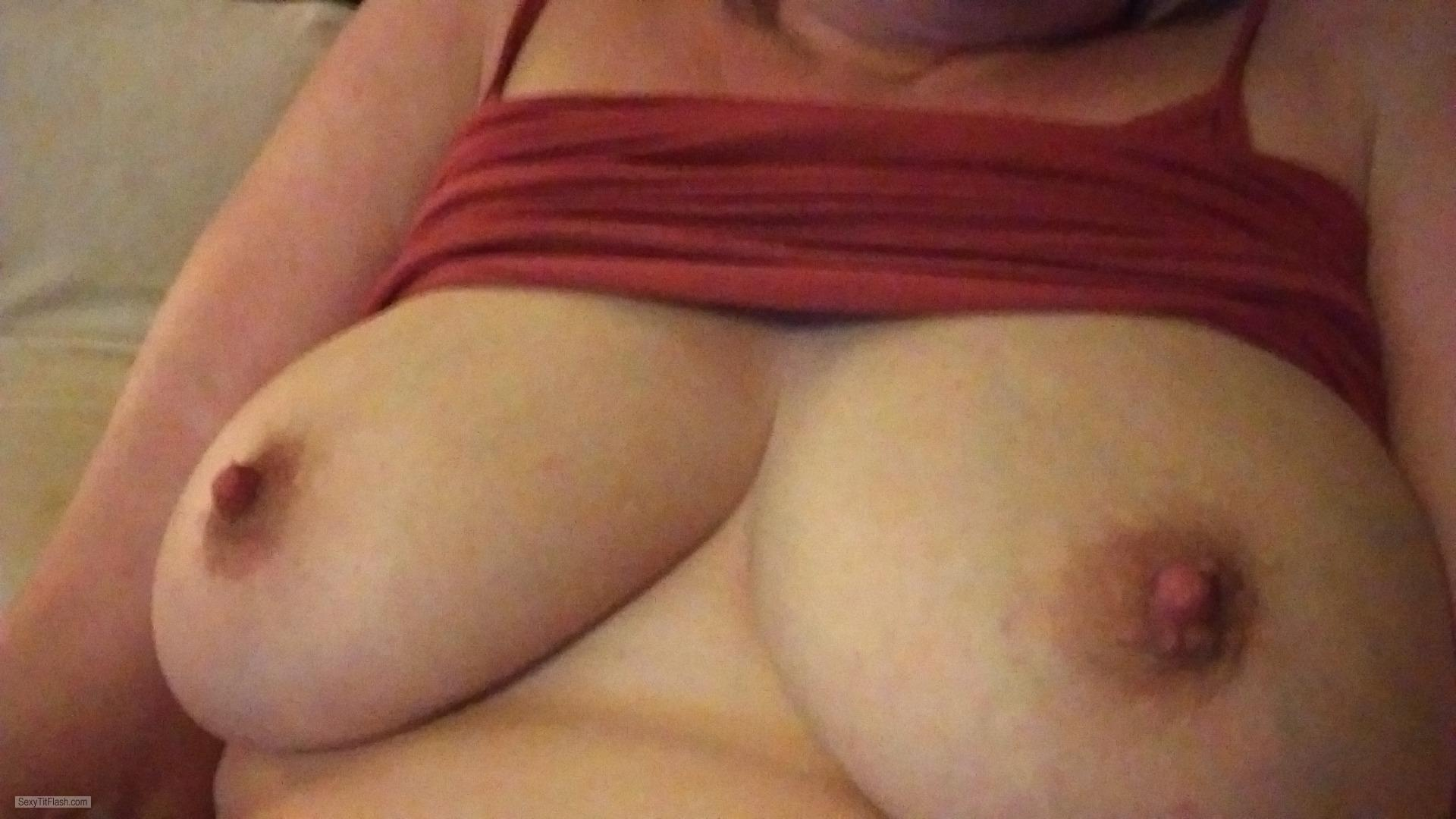 Tit Flash: My Medium Tits - Ellens Boobs, Late Forties from United Kingdom