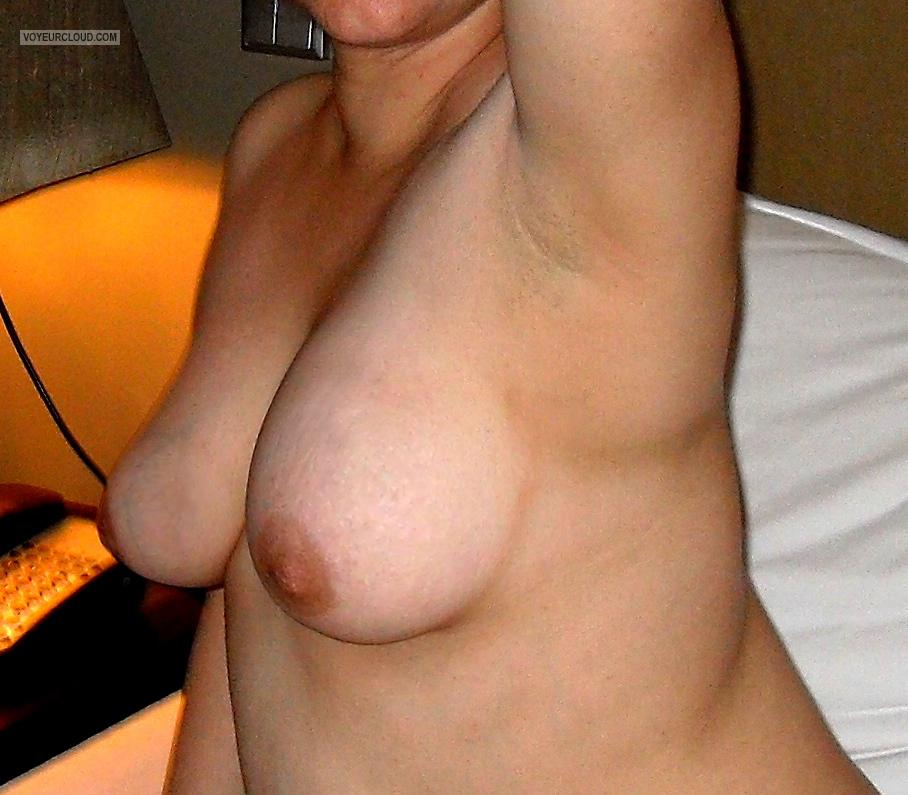 Tit Flash: Wife's Medium Tits - Maria-16 from Portugal