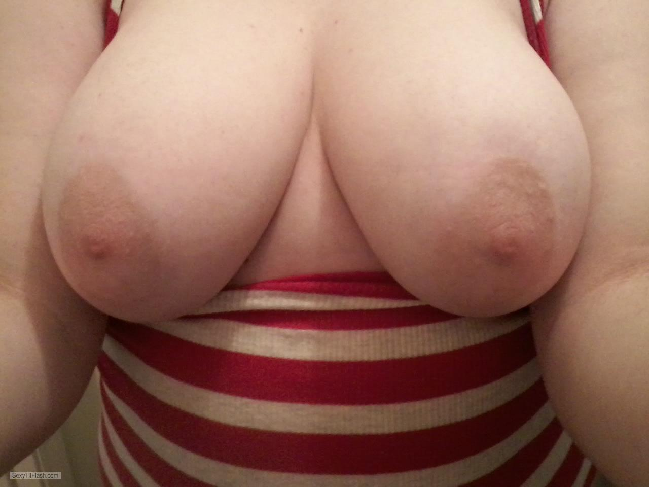 Tit Flash: My Medium Tits (Selfie) - Lemoncake from United States