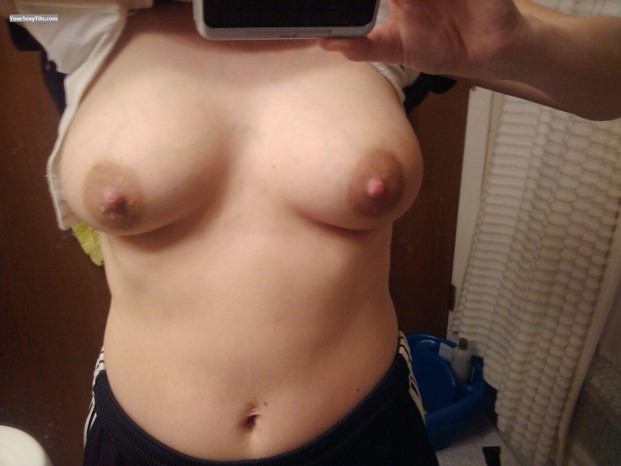 Tit Flash: My Medium Tits (Selfie) - Rn from United States