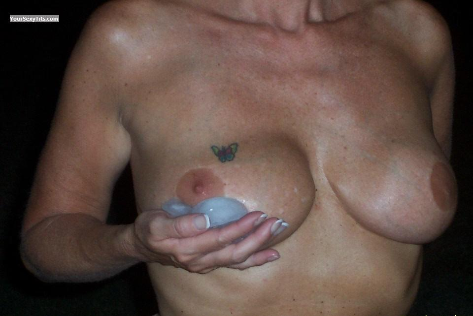 Tit Flash: Medium Tits - Janice from United States