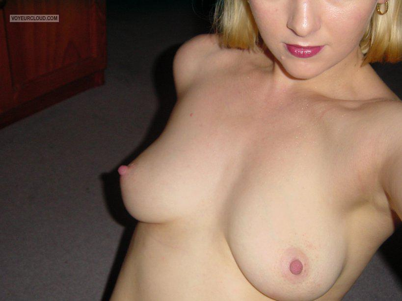 Tit Flash: Wife's Small Tits (Selfie) - Sass from United States