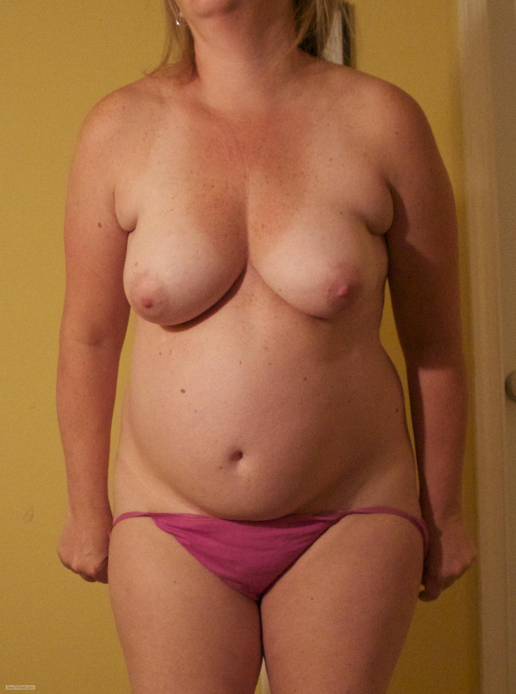Tit Flash: My Medium Tits - Chubbywhore from United States
