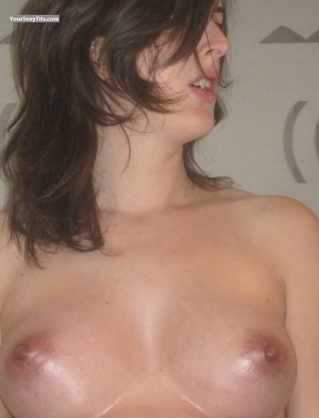 Tit Flash: Medium Tits - Topless Mummy from Belgium