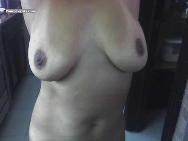 Tit Flash: Medium Tits - Anny from United States