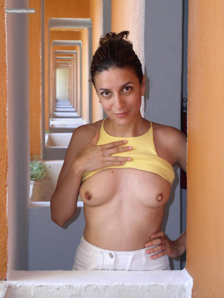 Tit Flash: Medium Tits - Topless Tegus from Mexico