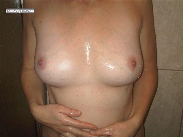 Tit Flash: My Medium Tits (Selfie) - Kim from Canada