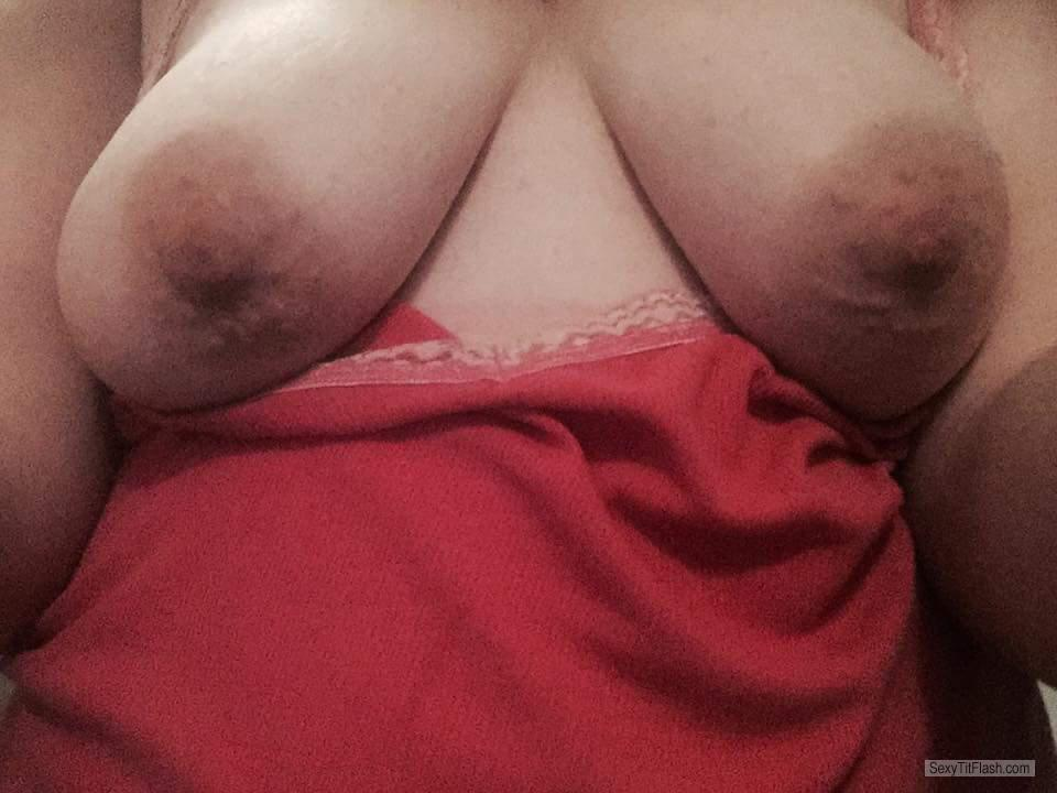 Tit Flash: Girlfriend's Medium Tits - My Milf Again from United States