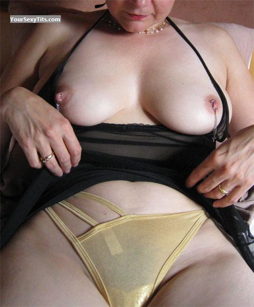 Tit Flash: Medium Tits - Pijpkonijn from BelgiumPierced Nipples