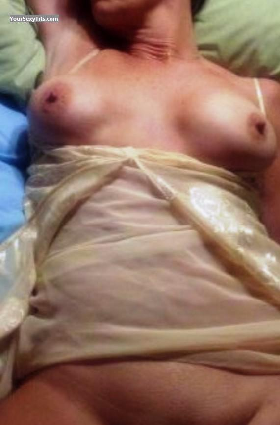 Tit Flash: Wife's Medium Tits - Lydia 10 from United States
