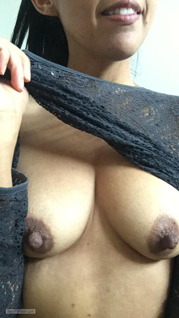 Tit Flash: My Medium Tits (Selfie) - Sandy from Mexico