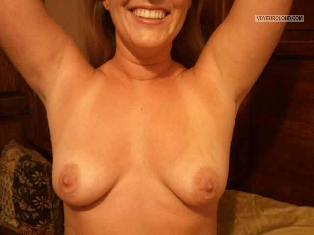 Tit Flash: Wife's Medium Tits - Missouri Momma from United States