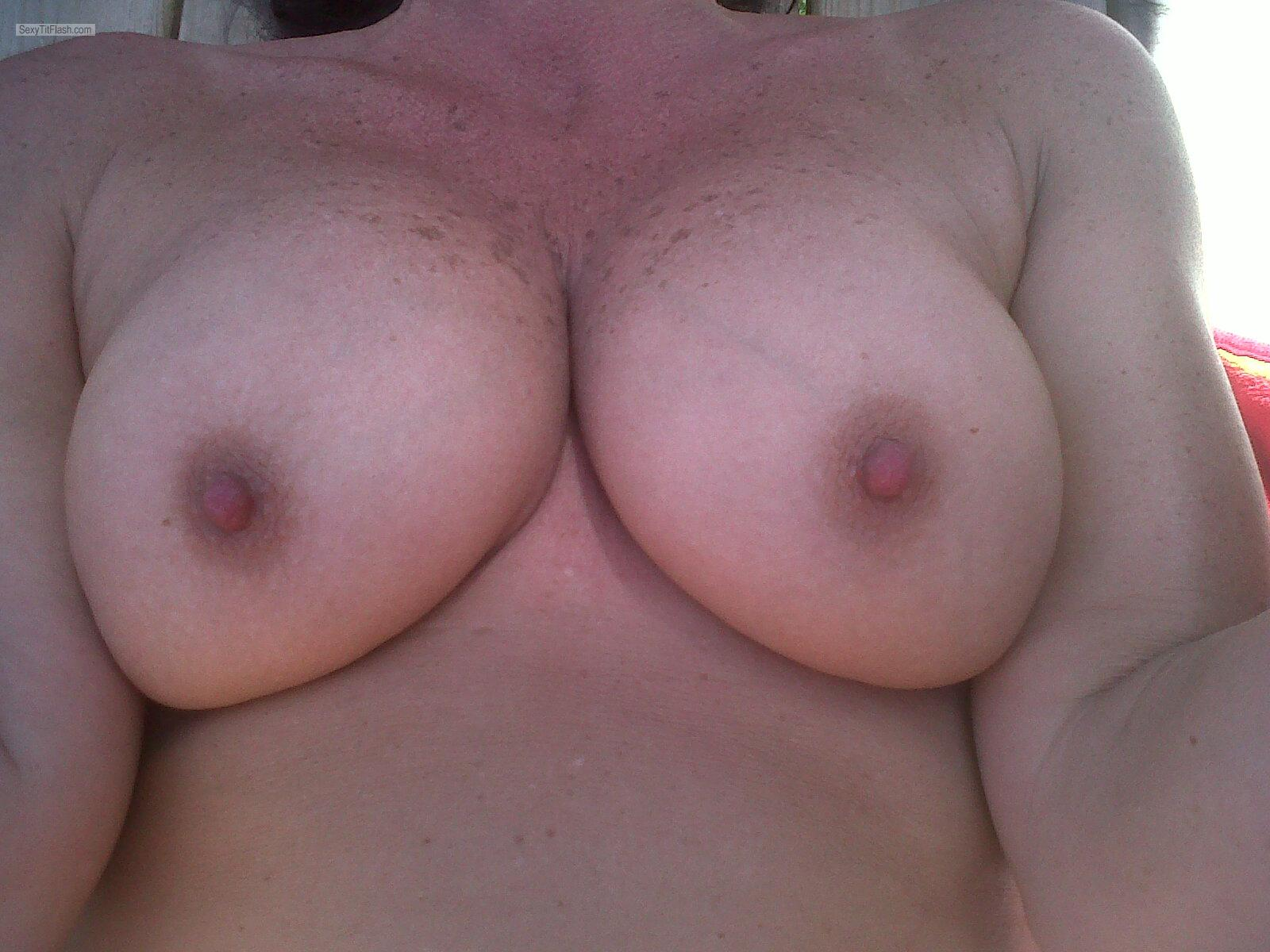 Tit Flash: Wife's Big Tits - Sweet Tits from Canada