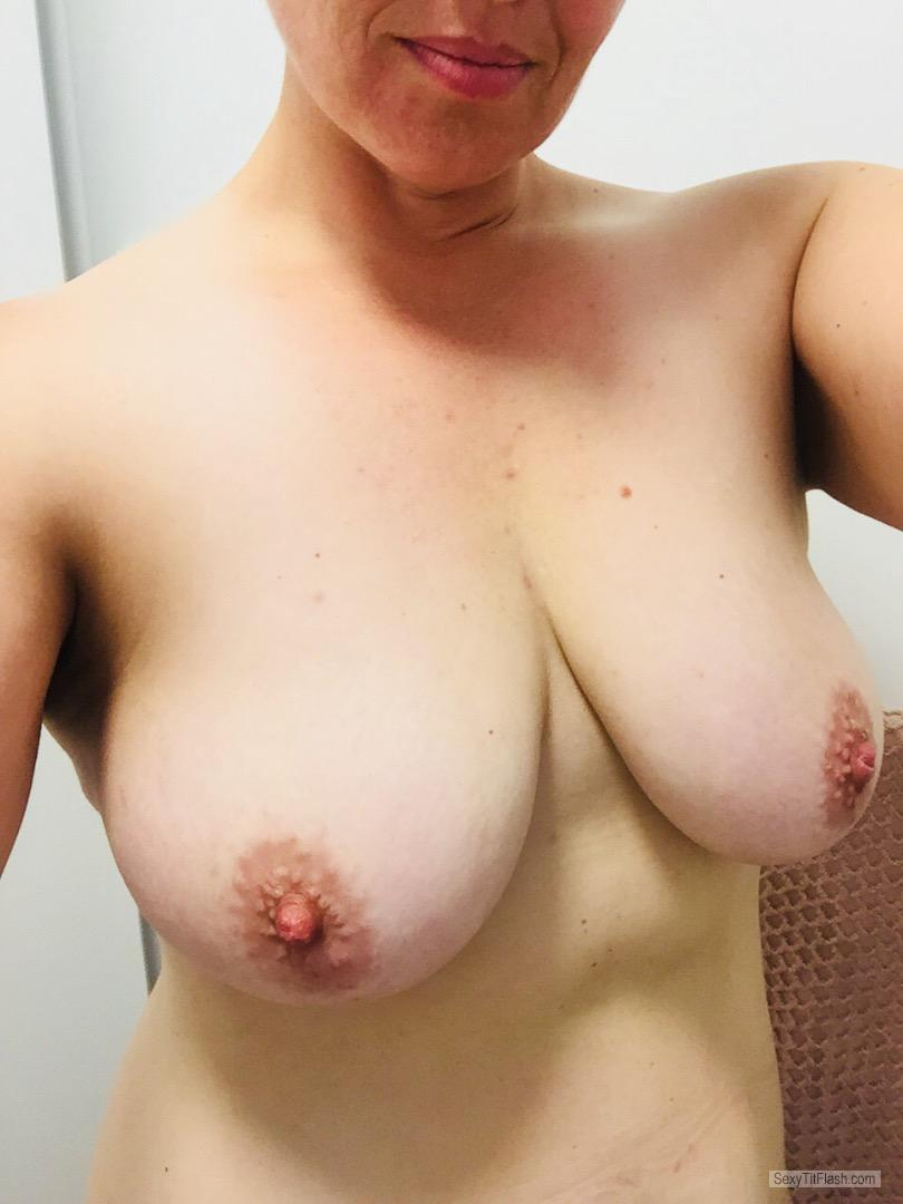 Tit Flash: My Medium Tits (Selfie) - TT from Australia
