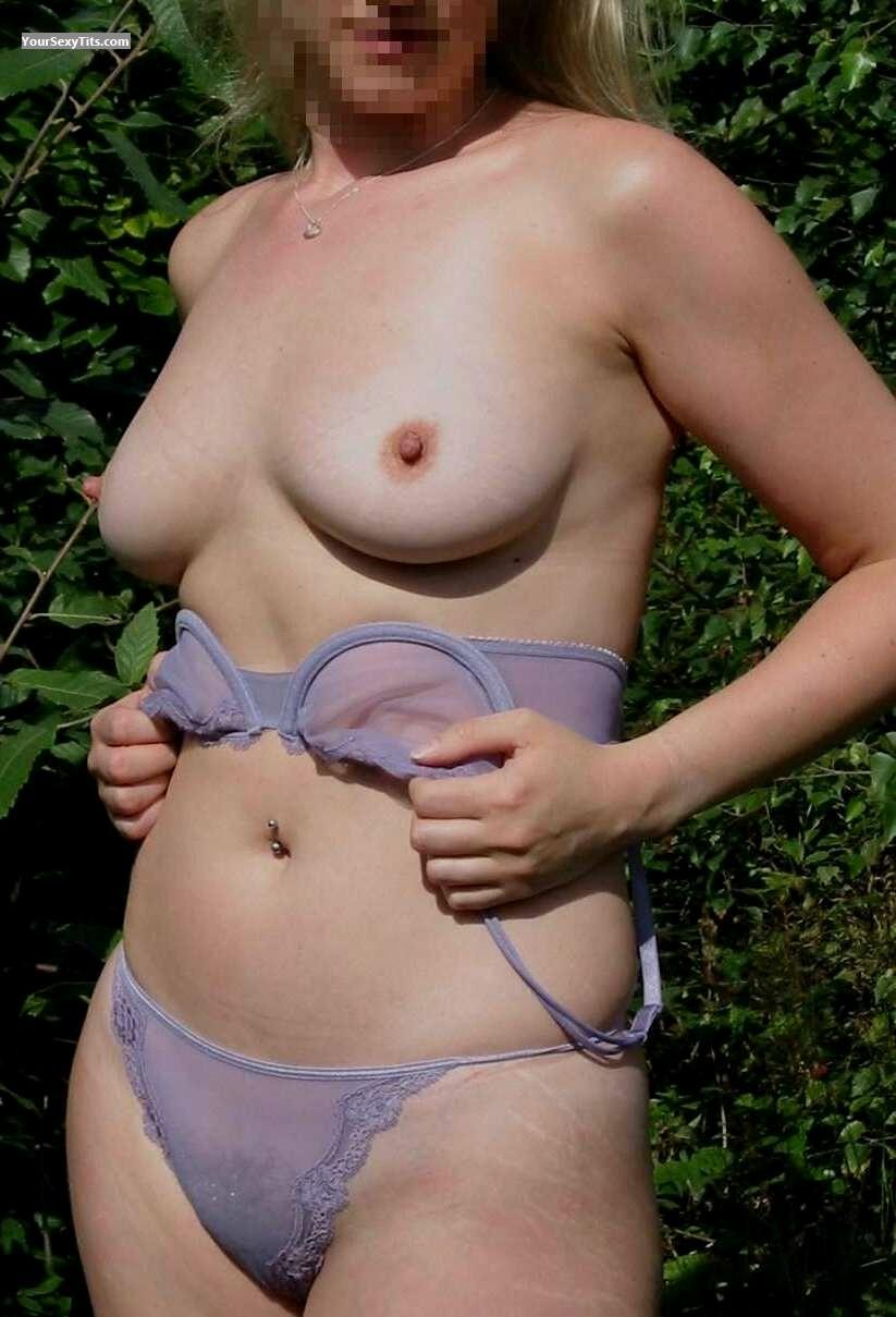 Tit Flash: Medium Tits - CuteGirl from United Kingdom