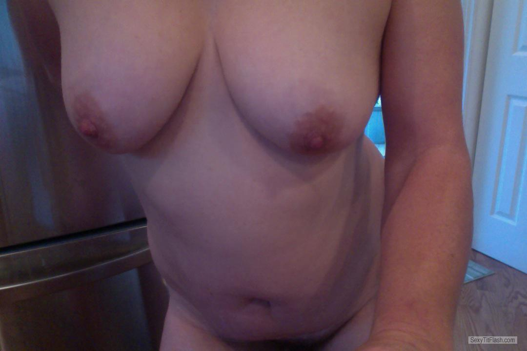 Tit Flash: My Medium Tits - Happy from Canada