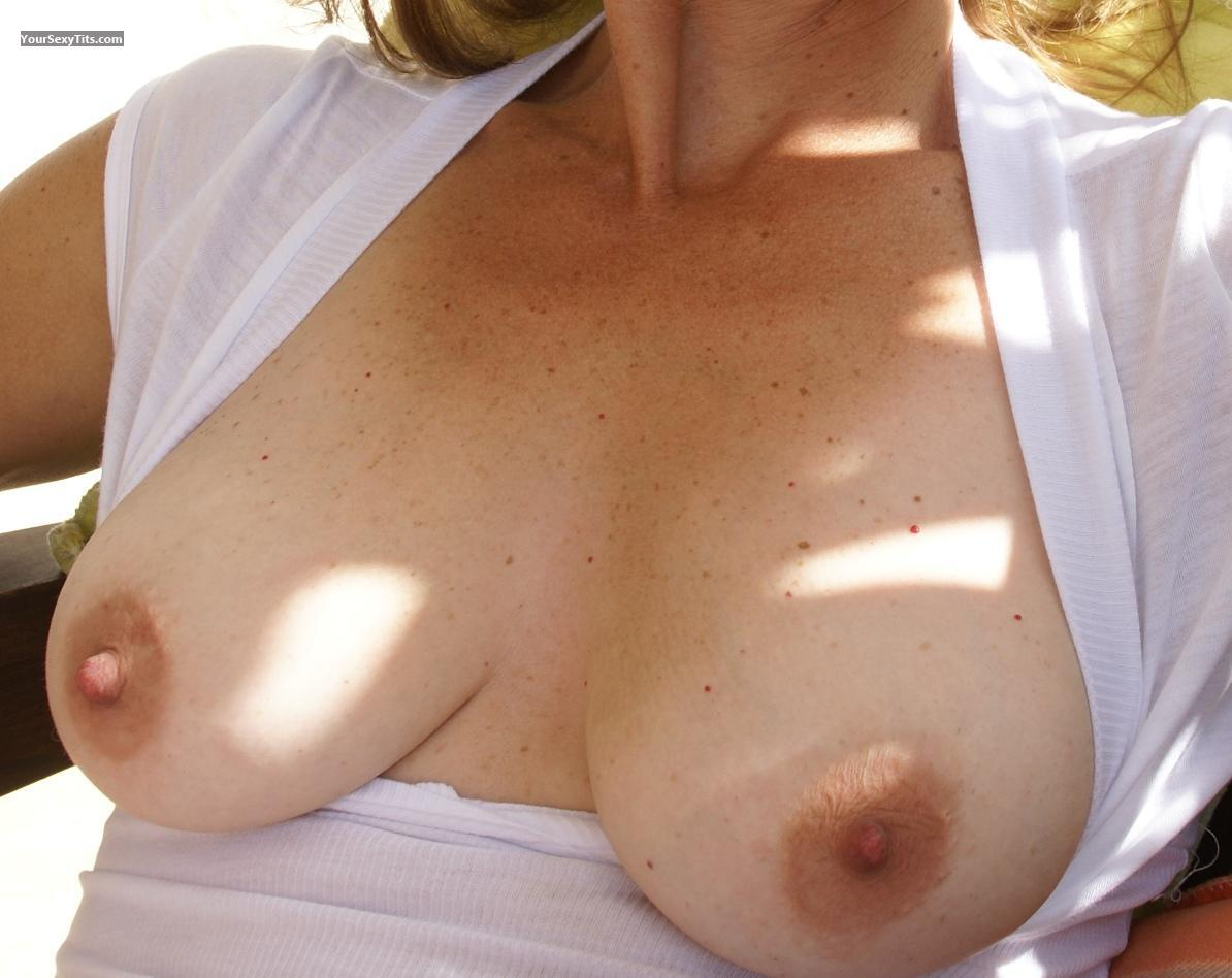 Tit Flash: Medium Tits - Chica from Mexico
