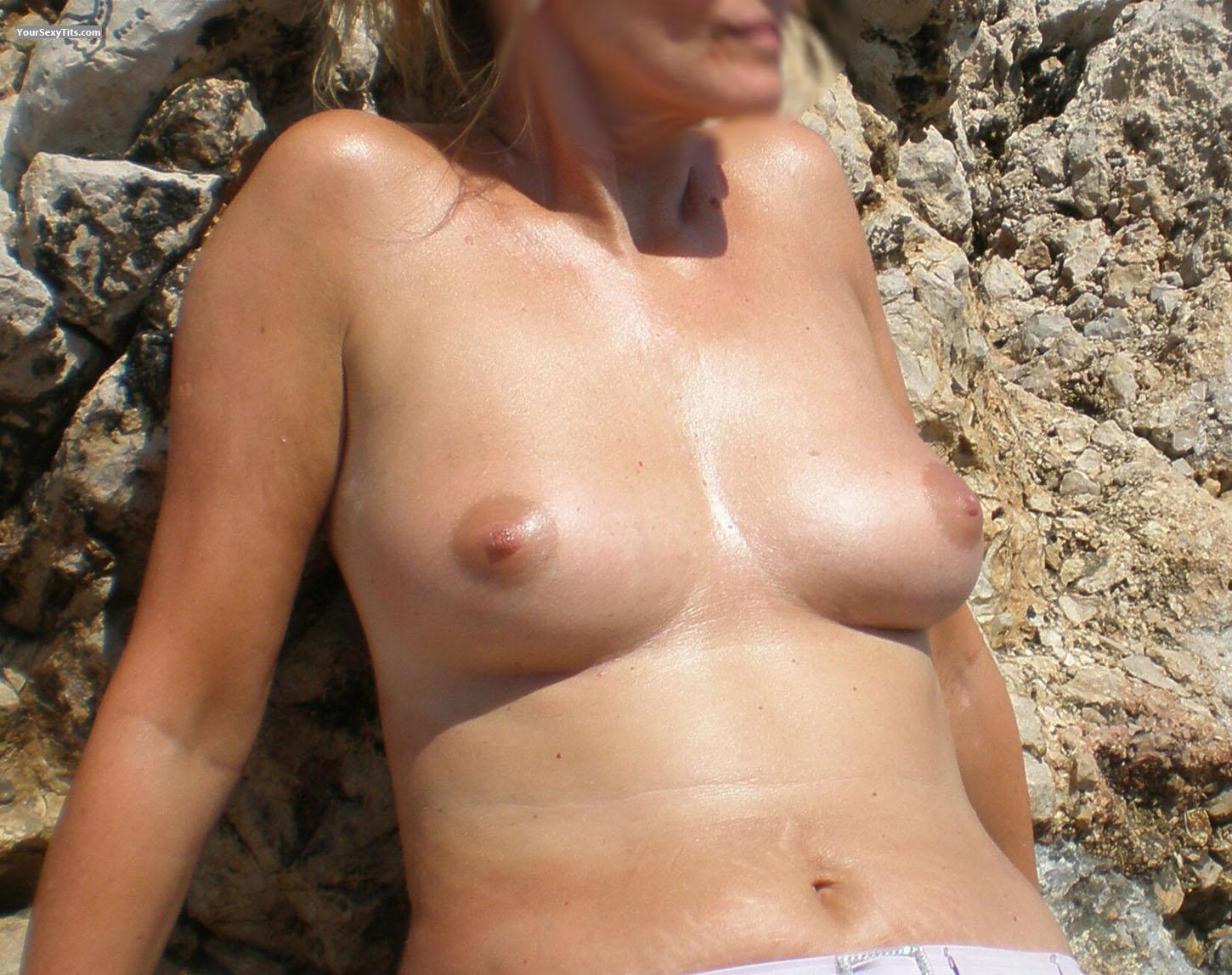 Tit Flash: Wife's Medium Tits - MILF UK from United Kingdom