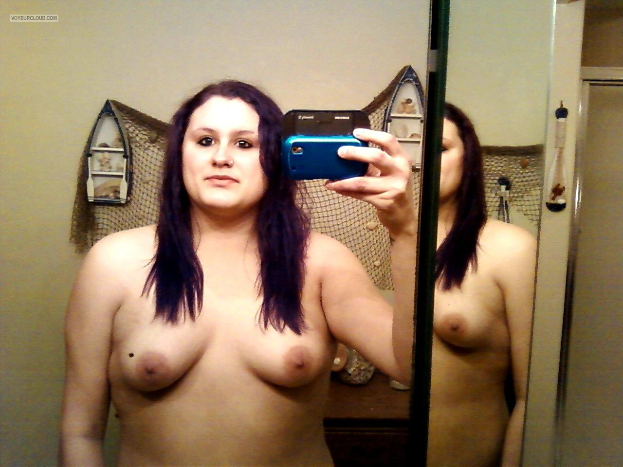 My Small Tits Topless Selfie by Sarah