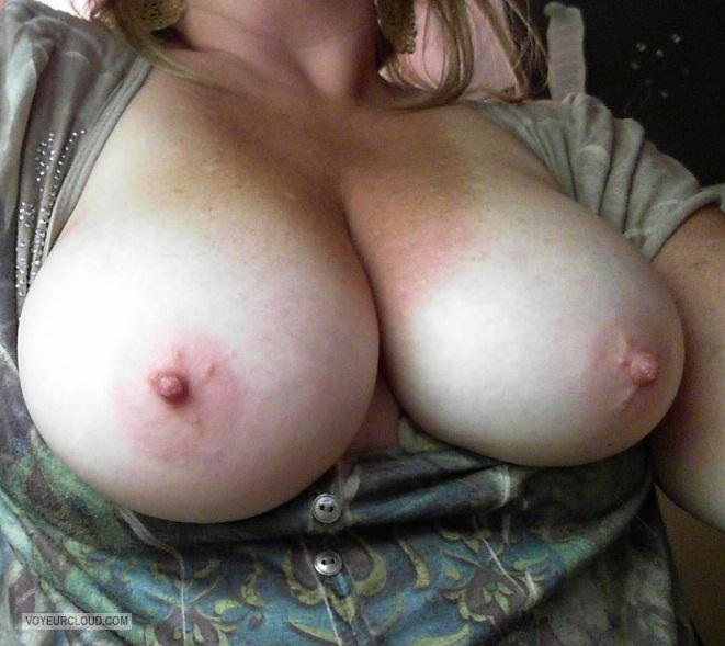 Tit Flash: My Medium Tits (Selfie) - Lonely_wife from United States
