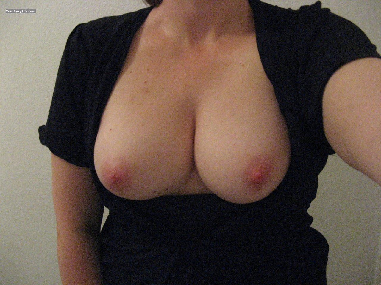 Tit Flash: My Medium Tits (Selfie) - Creamyme from United States