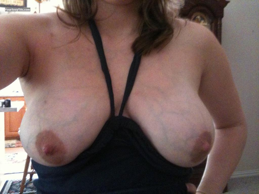 Tit Flash: My Medium Tits (Selfie) - Janet from United States