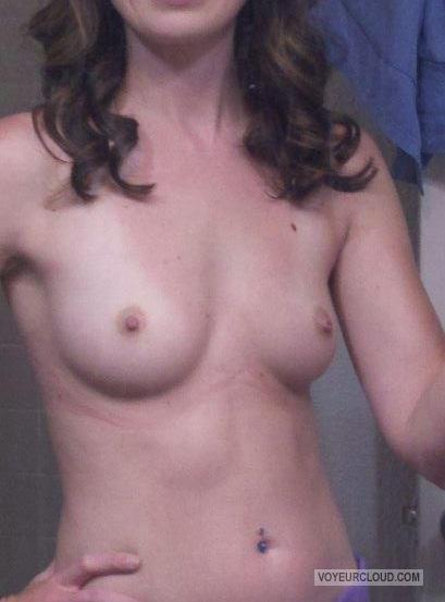Small Tits Of My Wife Selfie by Honey