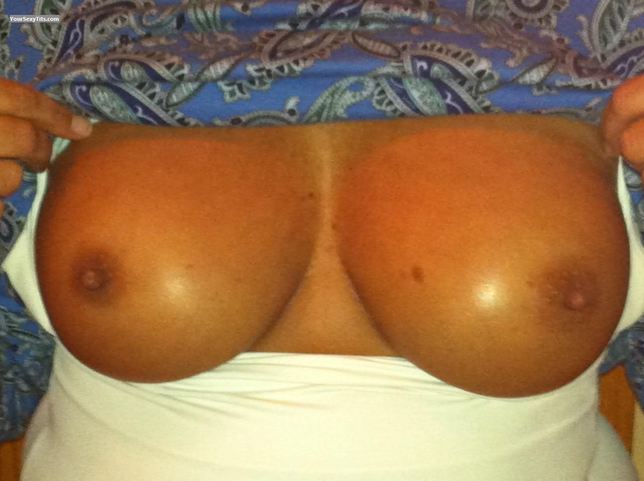 Tit Flash: Medium Tits - 55 Year Old MILF from United States