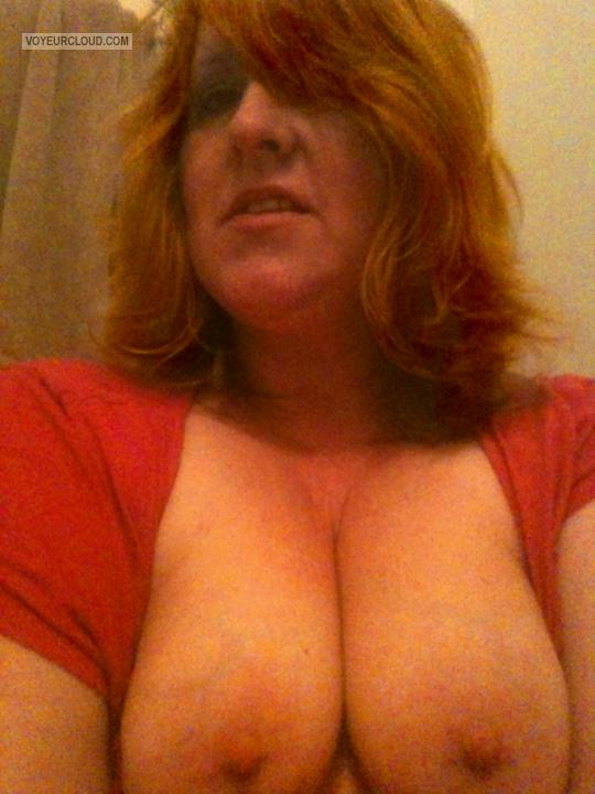 Medium Tits Of My Wife Topless Selfie by Wife