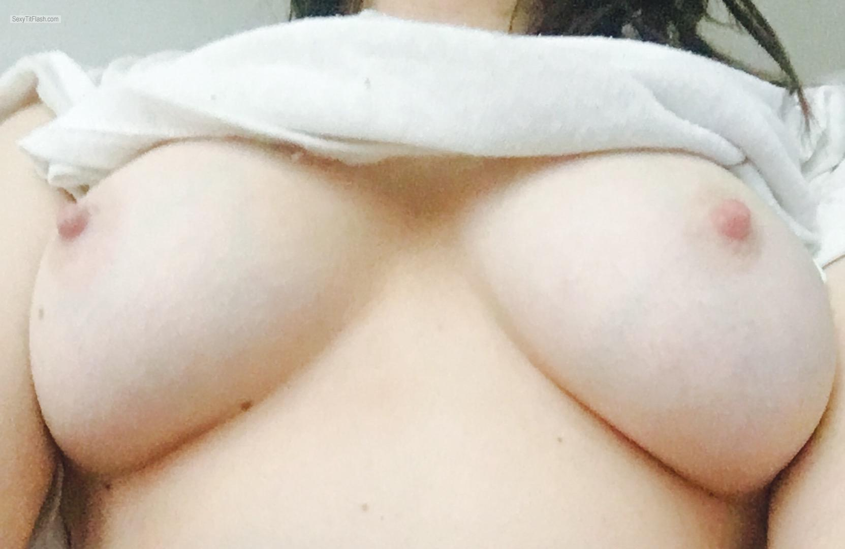 My Medium Tits Topless Selfie by Young Perky Student