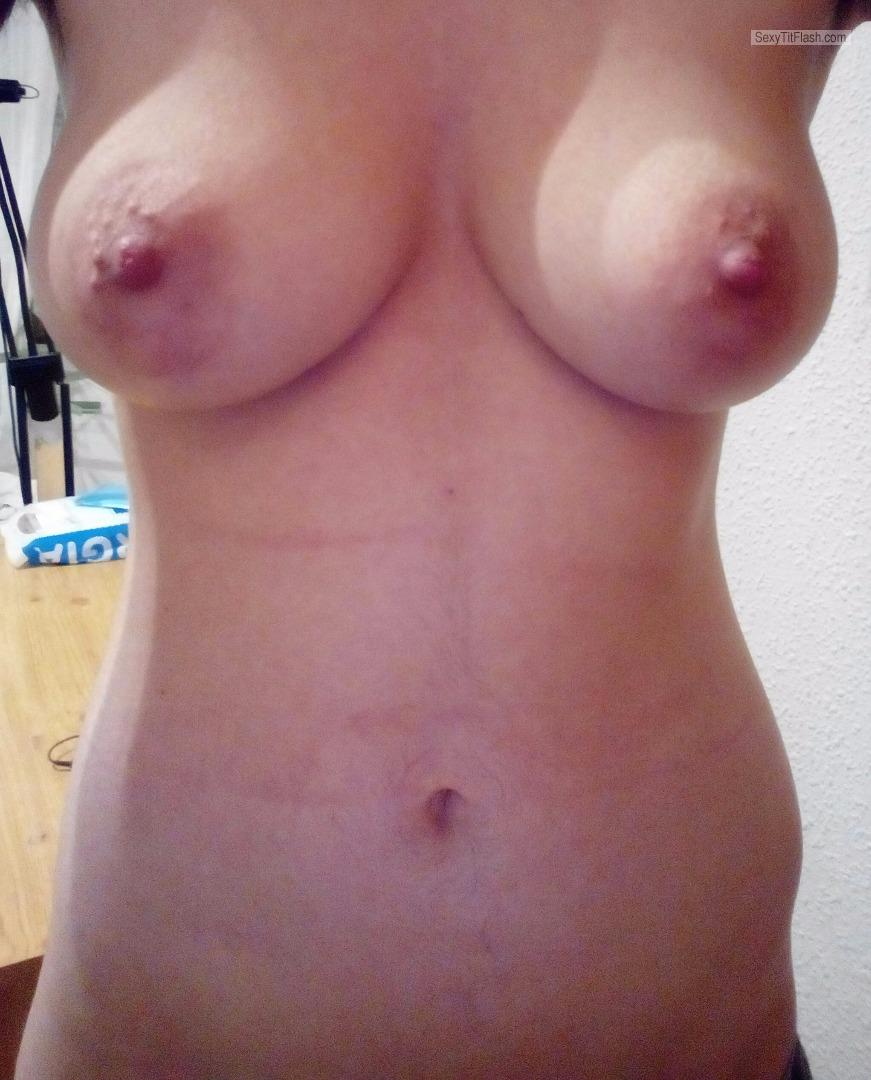 Tit Flash: My Medium Tits (Selfie) - Hotsammy from Spain