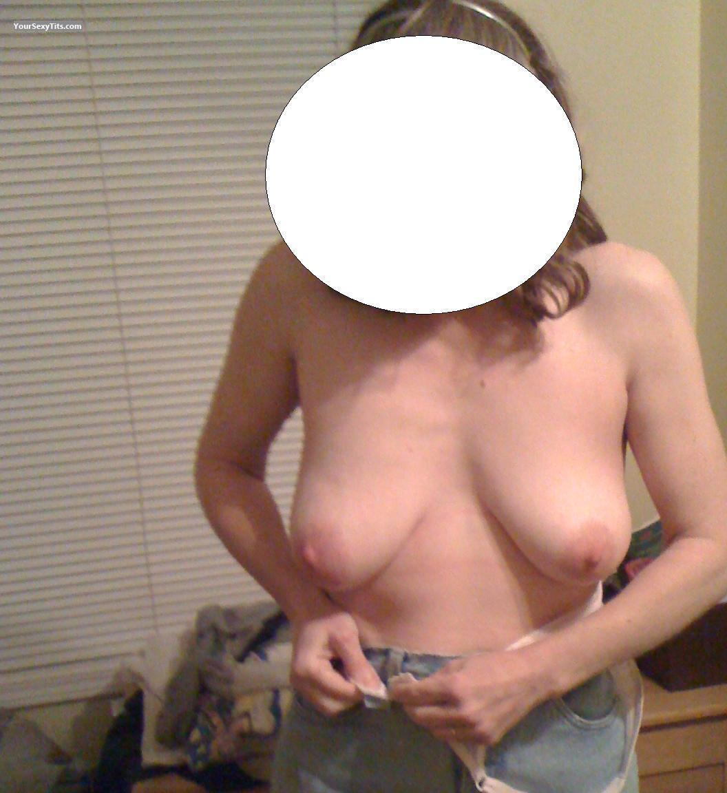 Tit Flash: Wife's Medium Tits - Pen from Canada