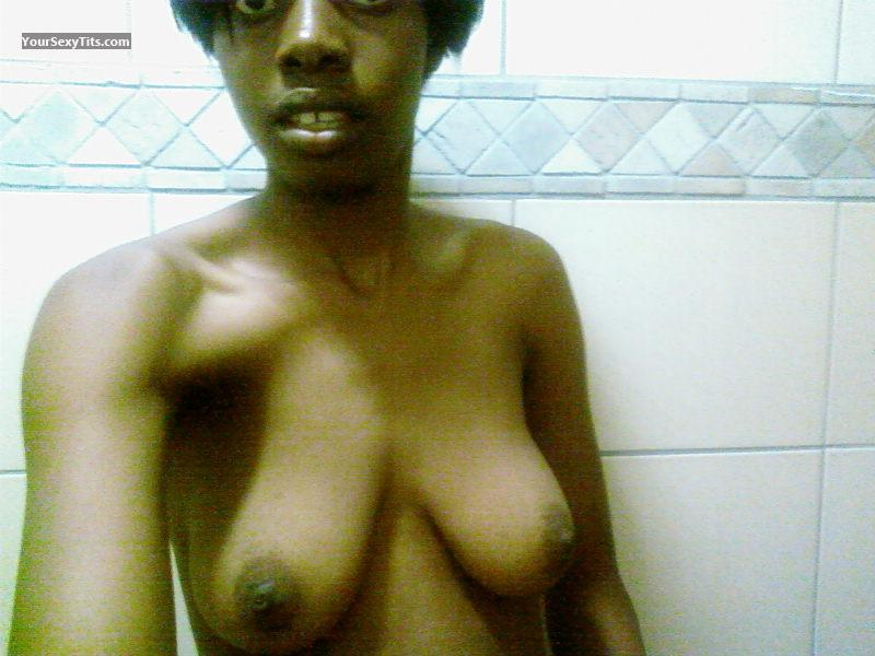 Tit Flash: My Medium Tits (Selfie) - Flayfull from South Africa