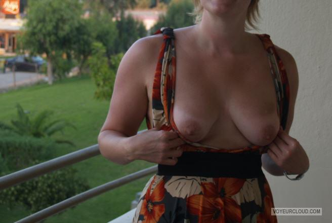 Tit Flash: My Medium Tits - PJ from United Kingdom