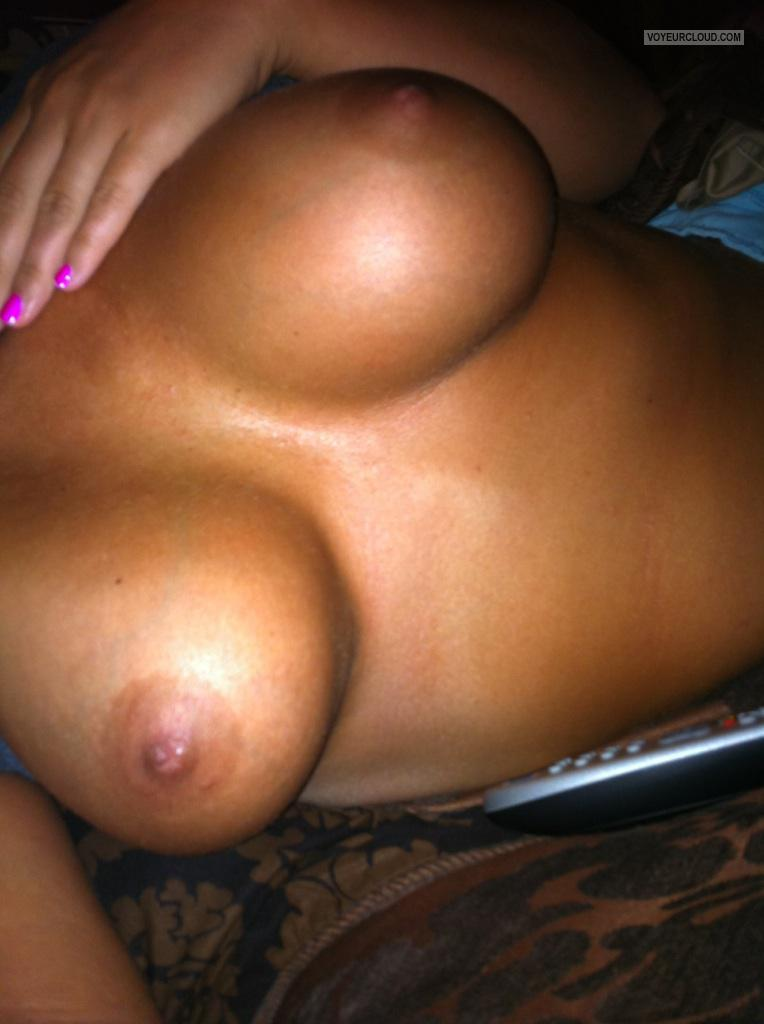 Tit Flash: Wife's Big Tits (Selfie) - Justforfun9999 from United States