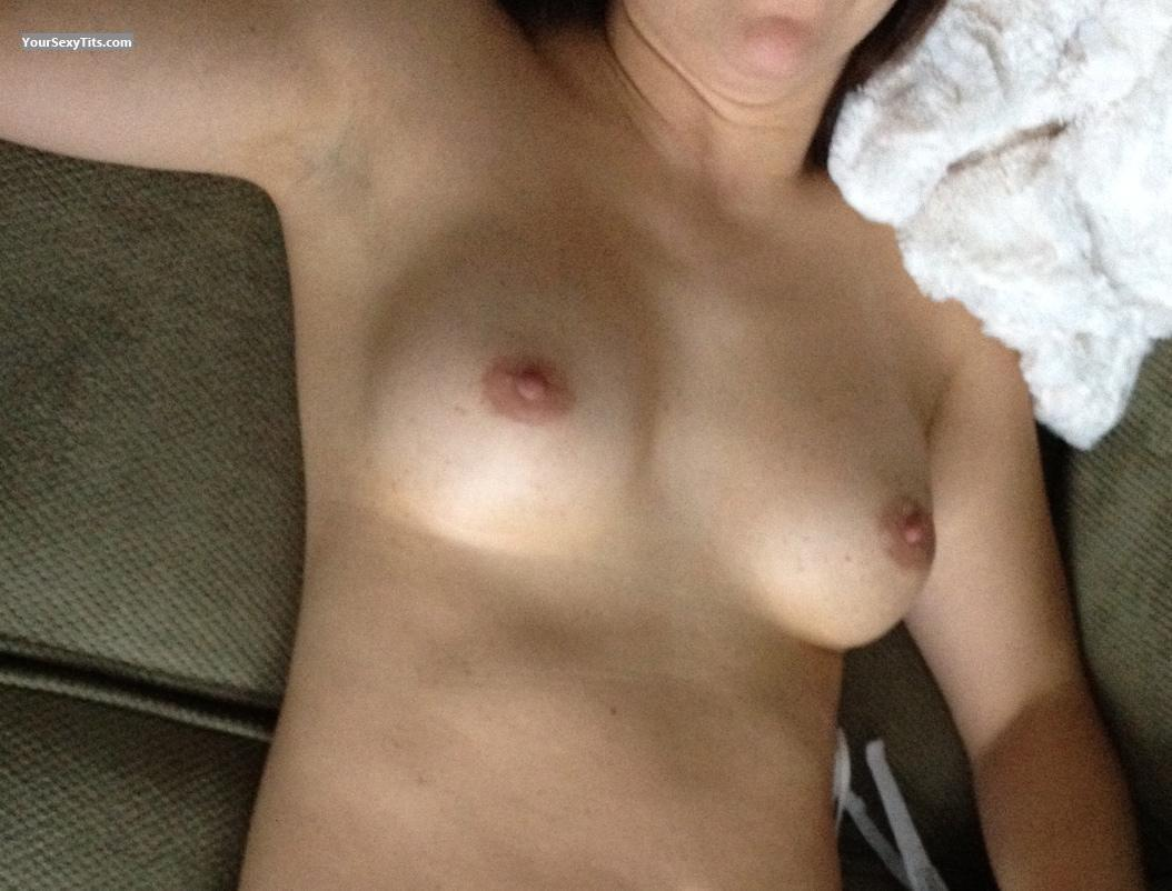 Tit Flash: Wife's Medium Tits - Yaz from United States