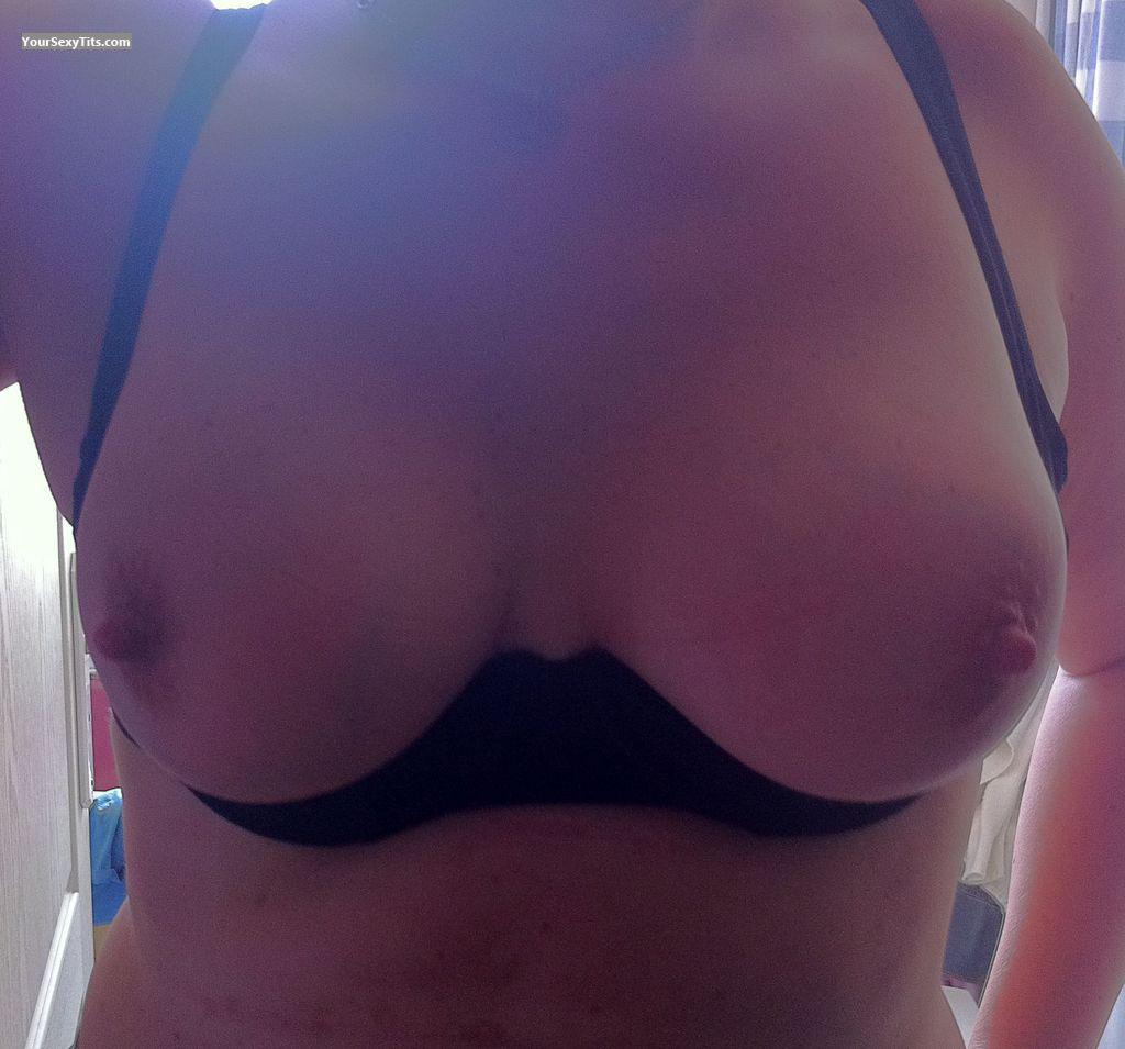 Tit Flash: Wife's Medium Tits - Missbololos from France, Metropolitan