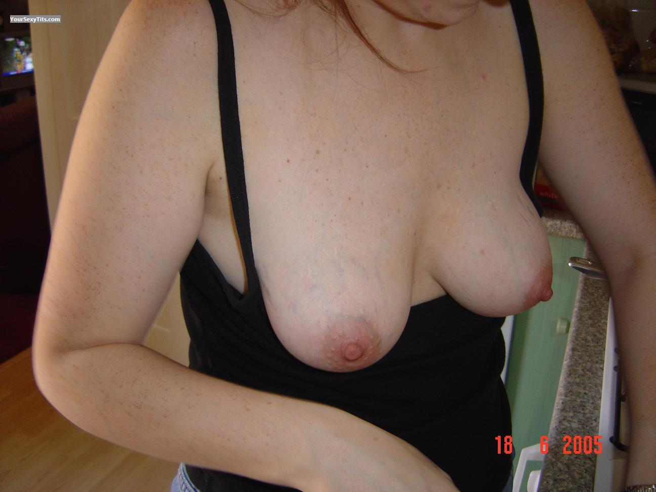 Tit Flash: Medium Tits - 'ever Ready Wife' from United Kingdom