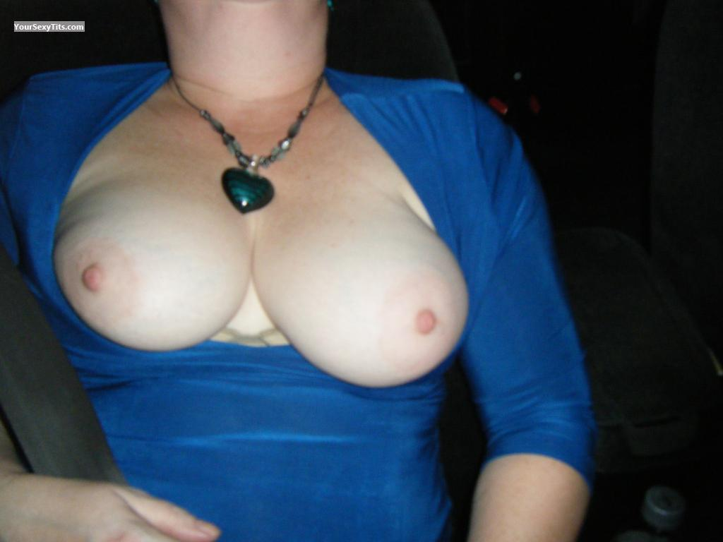 Tit Flash: Wife's Medium Tits - Wife First from United States