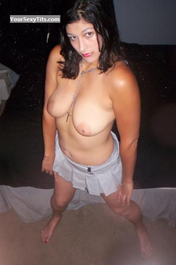 Tit Flash: Medium Tits - Topless Presley from United States