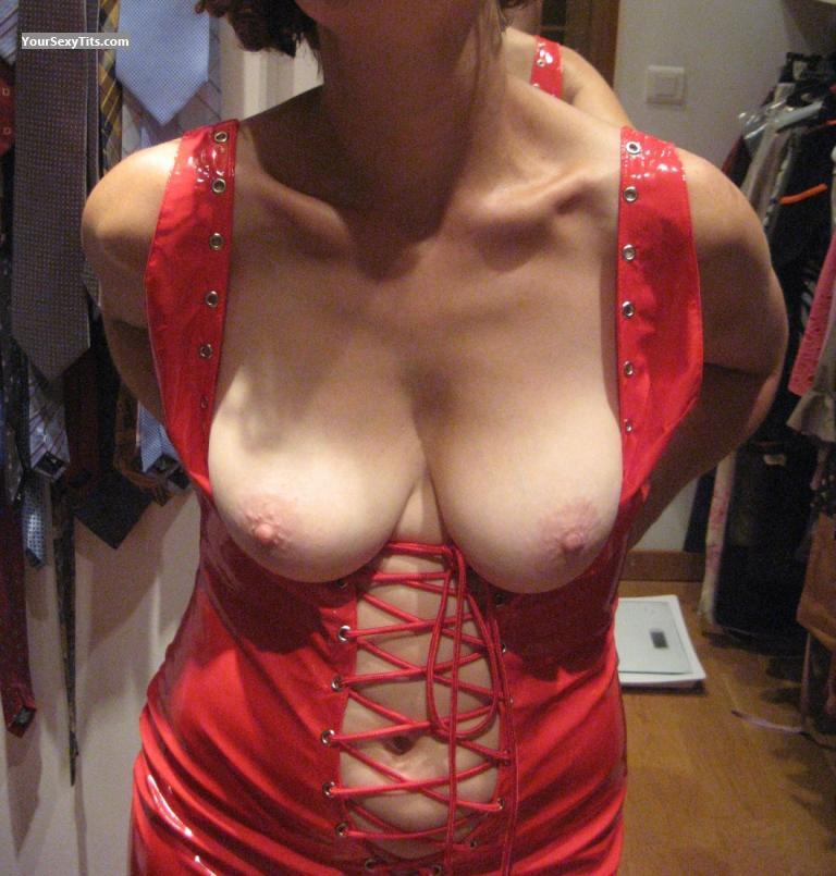 Tit Flash: Medium Tits - French MILF from France