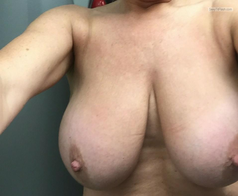 Medium Tits Of My Wife Selfie by Baby