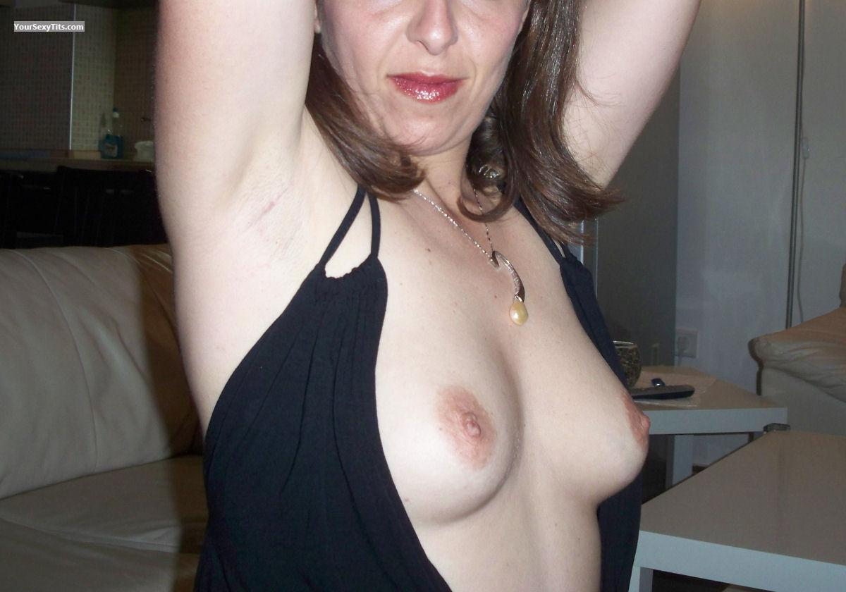 Tit Flash: Medium Tits - Stefania from Italy