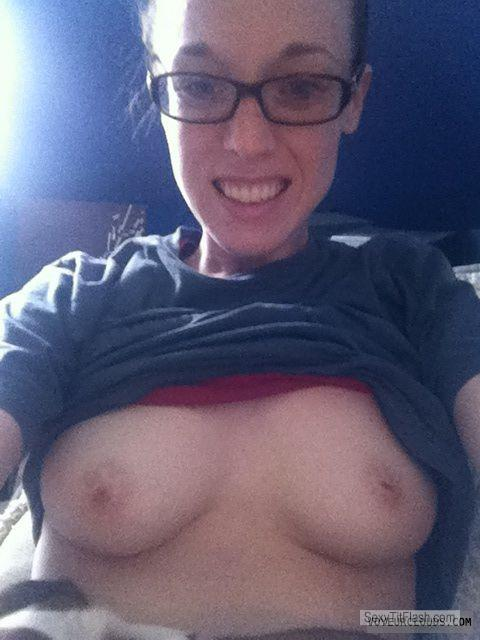 Tit Flash: Wife's Small Tits - Topless Jen from United States