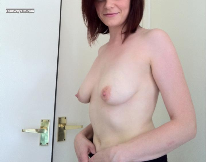 Tit Flash: Wife's Medium Tits - Jess from United Kingdom
