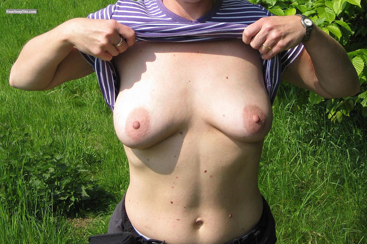 Tit Flash: Medium Tits - Rebecca from Netherlands