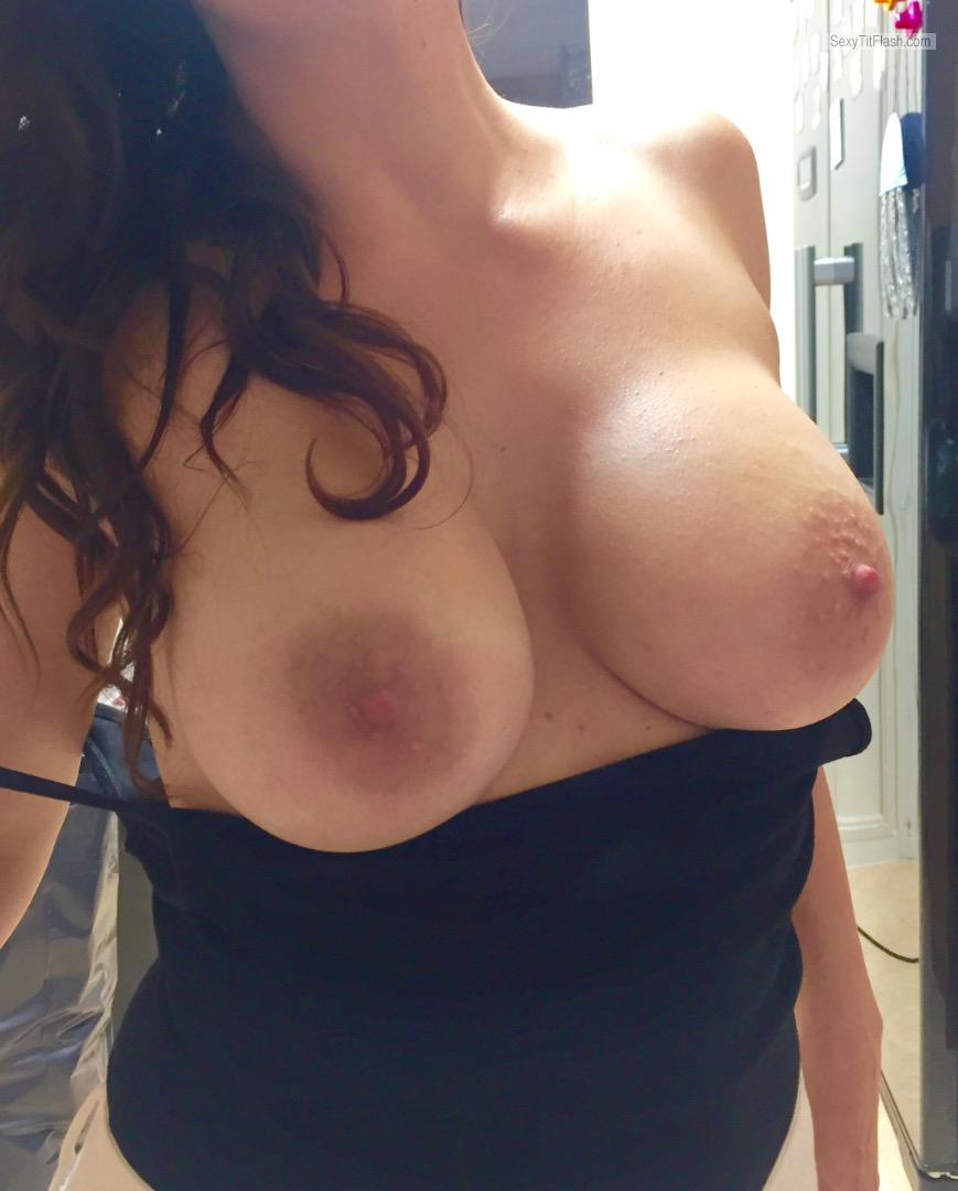 Tit Flash: My Medium Tits - Topless Kerry from United Kingdom