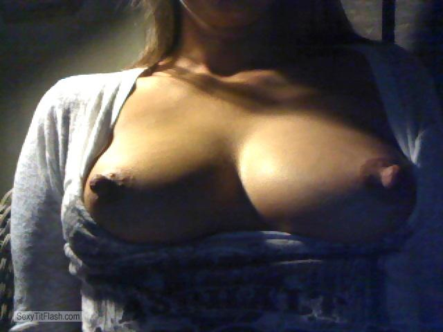 Tit Flash: My Medium Tits (Selfie) - Hot Momma from United States