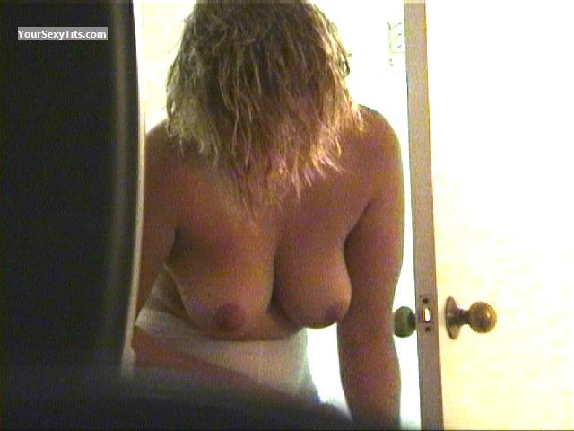 Tit Flash: Ex-Wife's Medium Tits - Some Ex from Netherlands